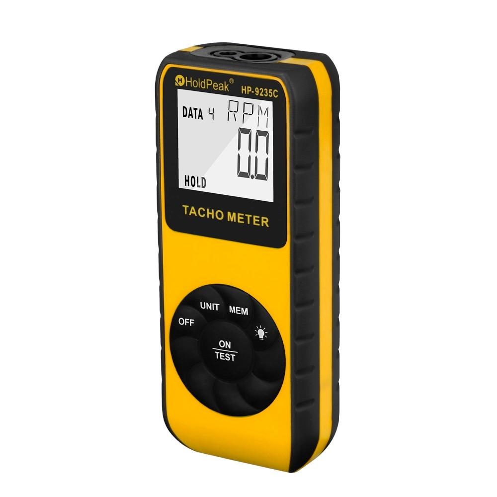 HoldPeak Laser Tachometer HP 9235C Speed Meter Digital Diagnostic tool Photo LCD RPM Meter Engine Motor
