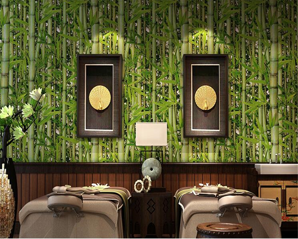 Beibehang retro restaurant bamboo forest green fresh - Living room cafe menu philadelphia ...