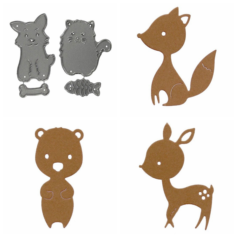 Cute Cartoon Animal Metal Cutting Dies Stencil DIY Scrapbooking Paper Cards Embossing 2019 New Die Cut Decorative Handcrafts
