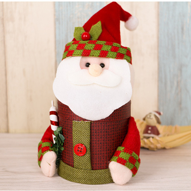 handmade non woven fabrics santa decoration christmas gift box christmas candy box bags for boy