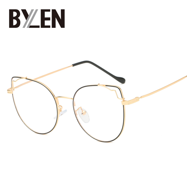 7056e006d8afc Retro Cat Eye Glasses Frames Optical Eyeglasses Cateye Accessories Metal Transparent  Eyewear Frame Oculos De Grau Feminino