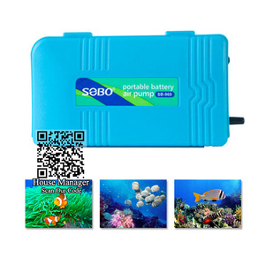 Компактный, недорогой портативный воздушный насос для аквариума, бак для рыбы, кислородный насос, питание от аккумуляторной батареи, аэрато...