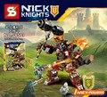 Sy573/572 nexus nick knights building block moltor mech robot batalla aaron minifiguras juguetes para regalos de los niños