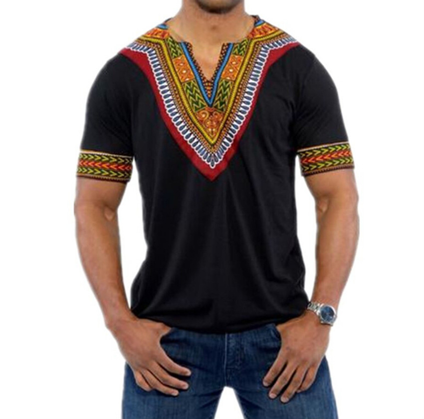 Mens Polo Shirt African Short Sleeve Lapel Primer Muscle Tee T-Shirt Casual Tops Blouse
