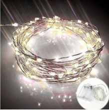 Led lights Waterproof Starry String Lights Bendable  Room Decor Ideas Birthday Evening Party Warm White Color Glittering