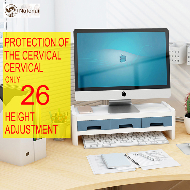 Computer storage drawer Easily protect the cervical spine and storage box and  drawer organizer Suitable for the office