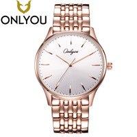 ONLYOU Brand Watch 2017 Super Luxury Fashion Women Men Watches Chronograph Men Waterproof Quartz Steel Wristwatch