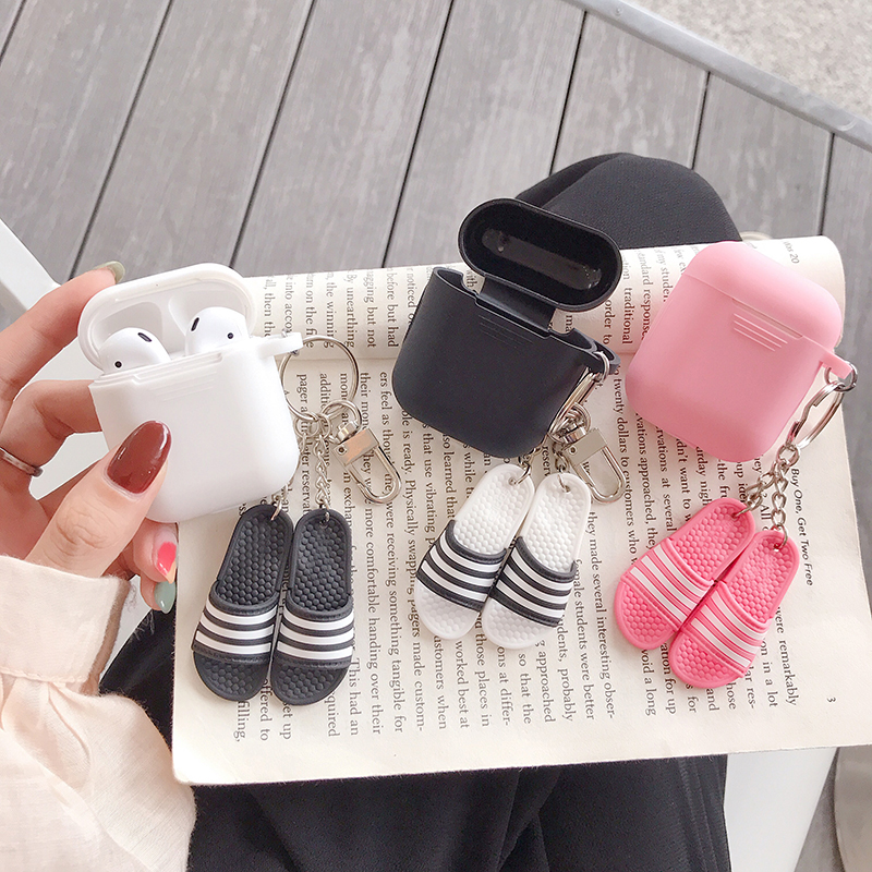 Hot sports brand 3D shoes keychain silicone Wireless Earphone Charging Case for Apple font b AirPods