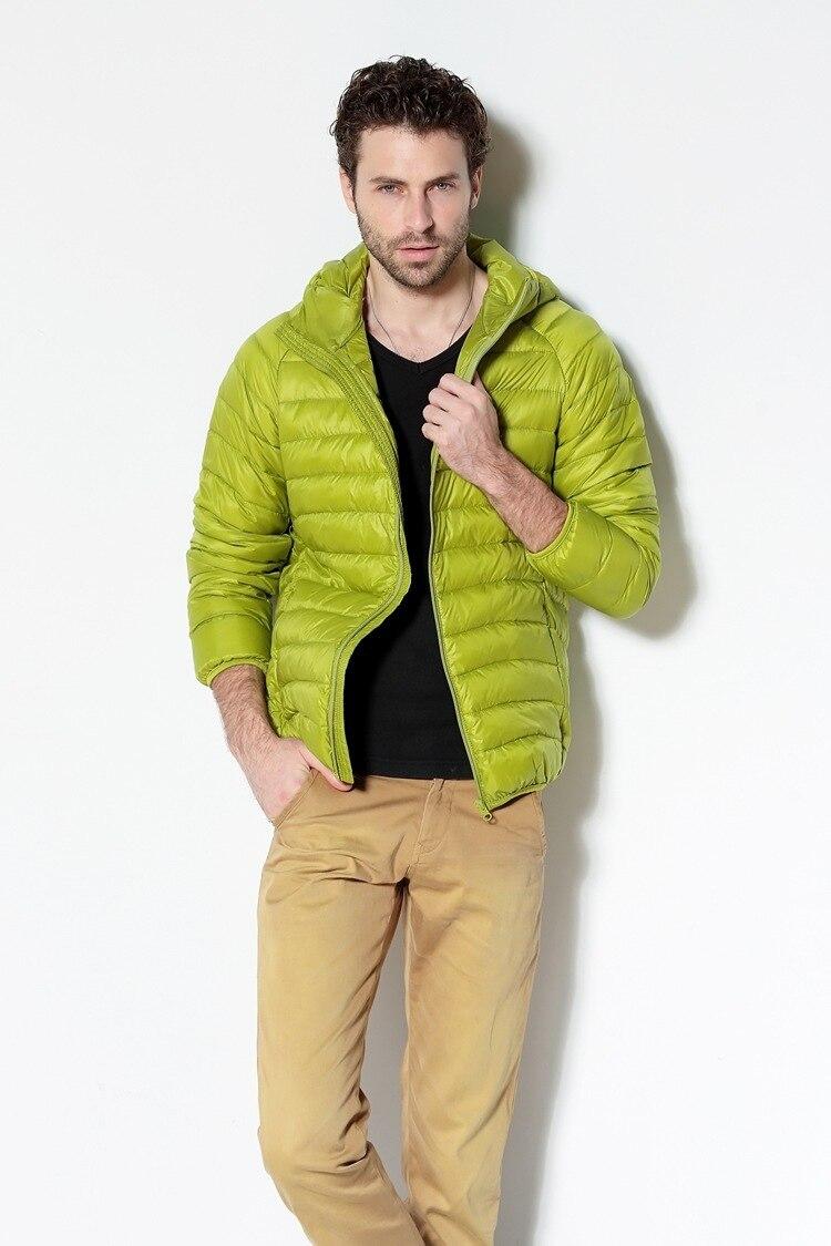 Men White Duck Down Jacket 2020 New Portable Hooded Down Coat Ultralight Men Winter Coat Warm Thermal Down Parkas 12