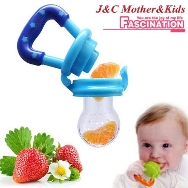 1piece 2016 lovely baby pacifier silicone infant food nipple feeder fruits feeding supplies soother nipples soft feeding tool