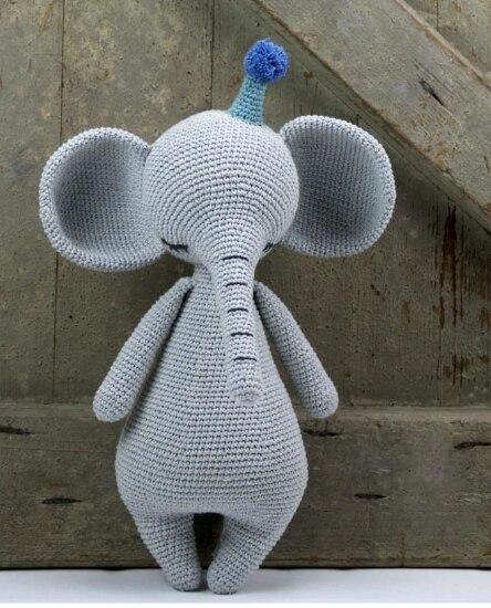 41 cm haute Bonne nuit éléphant Crochet crochet Crochet à tricoter kit Lait Coton Fil trucs Laine Tricot Enfants Tricotés À La Main tricot
