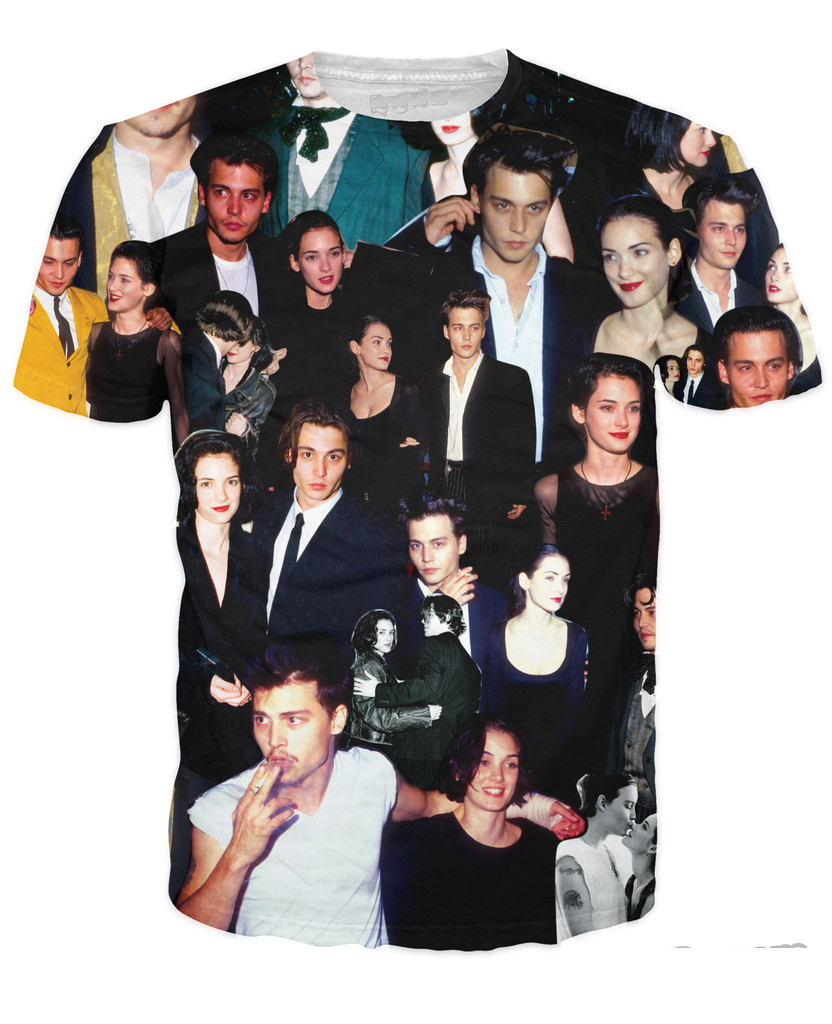 Unisex Women Men 3D Johnny and Winona Forever Paparazzi T-Shirts Summer Short Sleeve T-SHIRT Fashion Tees Tops Tees T Shirt
