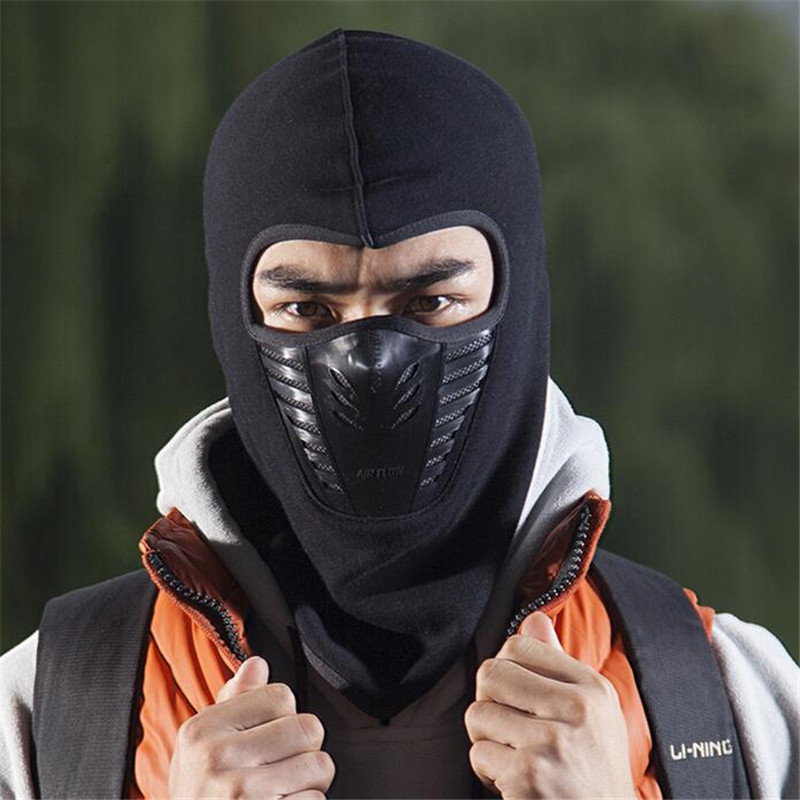 2019 Dust proof Cycling Face Mask Windproof Winter Warmer Fleece Bike Full Face Scarf Mask Neck Bicycle Snowboard Ski Men M116 in Cycling Face Mask from Sports Entertainment