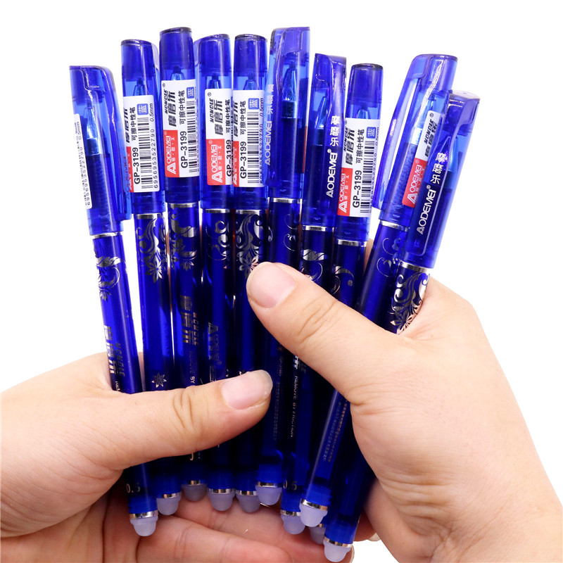 144 Pcs Erasable pen in gel pen Hot 0.5mm Blue red refill Student stationery office writing pen Color box original packaging