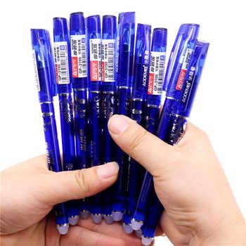 144 pz/lotto penna Cancellabile in gel pen Hot 0.5 millimetri Blu refill rosso Studente di cancelleria per ufficio di scrittura penna scatola di Colore confezione originale