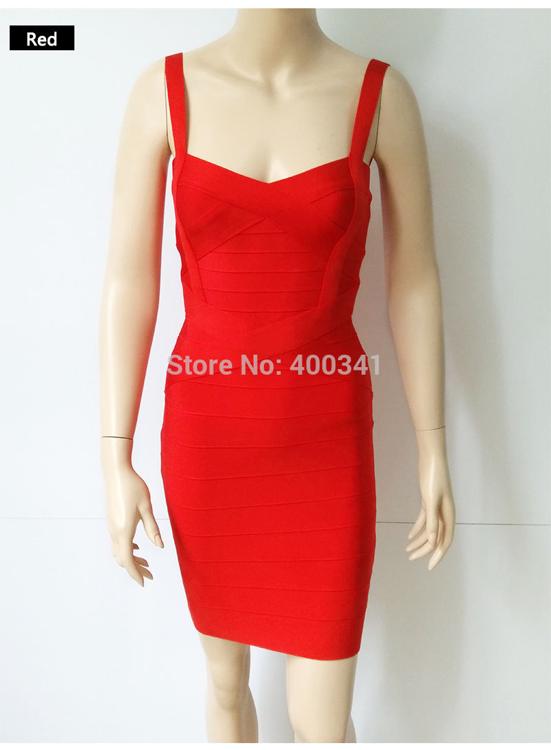17 New Women Sexy Spaghetti Strap Rayon HL Elastic Celebrity Bandage Dress Bodycon Mini Club Party Dresses Drop Ship HL8675 13