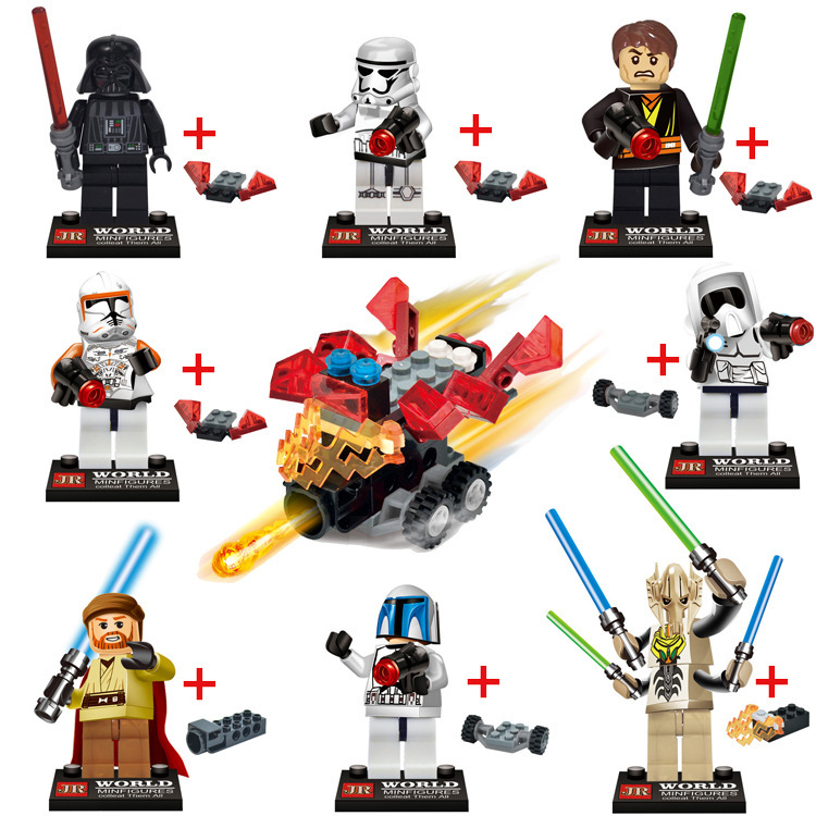 New  8PCS Star Wars 7 The General Grievous Minifigures Building Blocks Set Kylo Ren Figure Bricks Educational Toy For Kids Gift