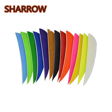 50pcs 3 Inch Water Drop Fletching Arrow Feathers 13 Colour Turkey Vanes For Training Practice Archery Accessories