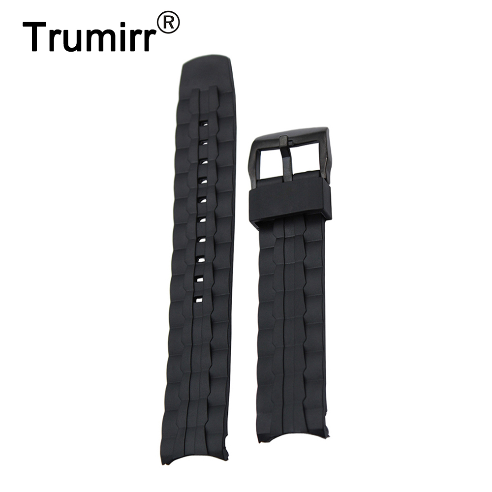 Silicone Rubber Watchband for Casio Edifice EF550 EF552 Replacement Watch Band Sport Strap Stainless Steel Buckle Wrist Bracelet