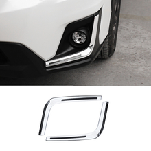 2PCS ACCESSORIES FIT FOR SUBARU XV GT3 GT7 2017 2018 ABS CHROME FRONT FOG LAMP LIGHT COVER TRIM MOLDING GARNISH
