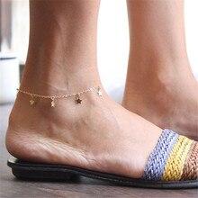 New Vintage Star Charm Bracelet Anklet For Women Gold on Leg Beach Ocean Jewelry