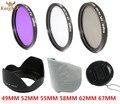 KnightX 49mm  58mm 67mm 55mm uv filter 52mm FLD CPL lens Set Lens Hood  for Canon eos 600d Sony for nikon d7100 5200 d5300 d3300