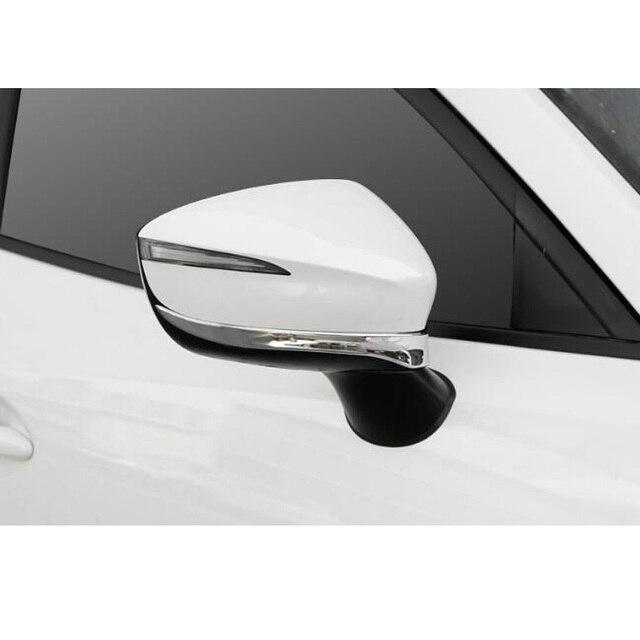 Fit Per Mazda CX-3 CX3 2016 2017 2018 Auto Retrovisore Specchio di Retrovisione Striscia Lunetta Lato di Chrome Modanatura Della Copertura Anti-scratch Trim