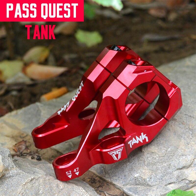 Réservoir Taiwan PASS QUEST alliage tige de vélo DJ/AM/FR/DH descente tige de VTT 10 degrés 35 MM de hauteur