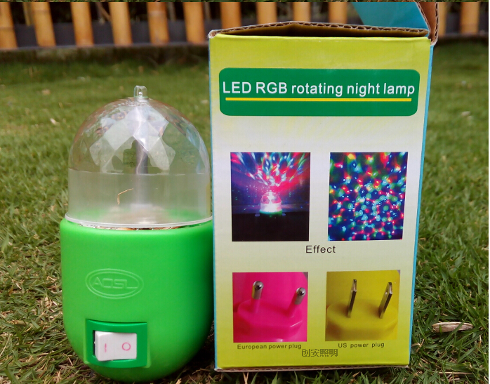 3W LED Stage Bulb Night Lamp RGB Full Color Bulb 7 Colors Changing Crystal Lighting 3 Watt DJ Disco Bar KTV Decoration Lights