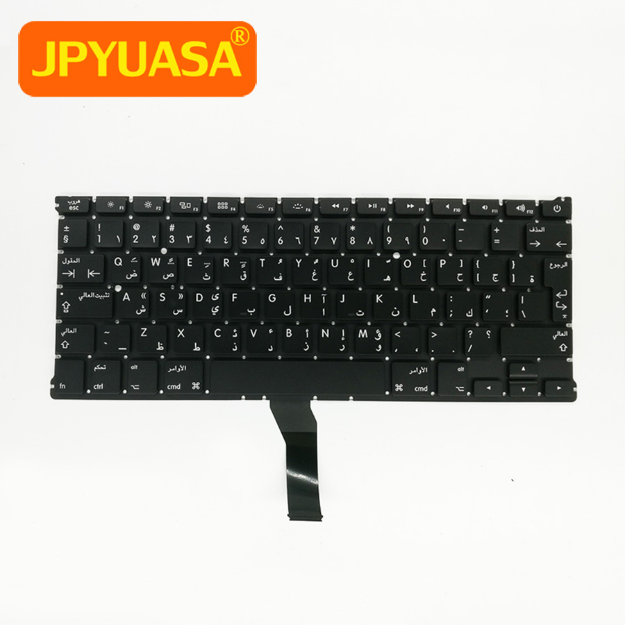 20pcs/lot New A1369 A1466 AR Arabic Keyboard For Apple Macbook Air 13 A1466 A1369 Arabic Keyboard 2011-2015