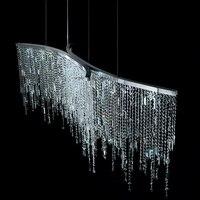 Ресторан Кристалл светодиодный люстры современный минималистский гостиной бар регистрации искусство подвесные светильники крепление для