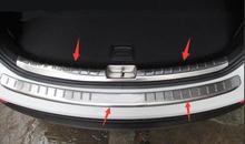 2013-2015 for Hyundai  new Santa Fe rear guard plate IX45 trunk guard plate decoration modification special цена 2017