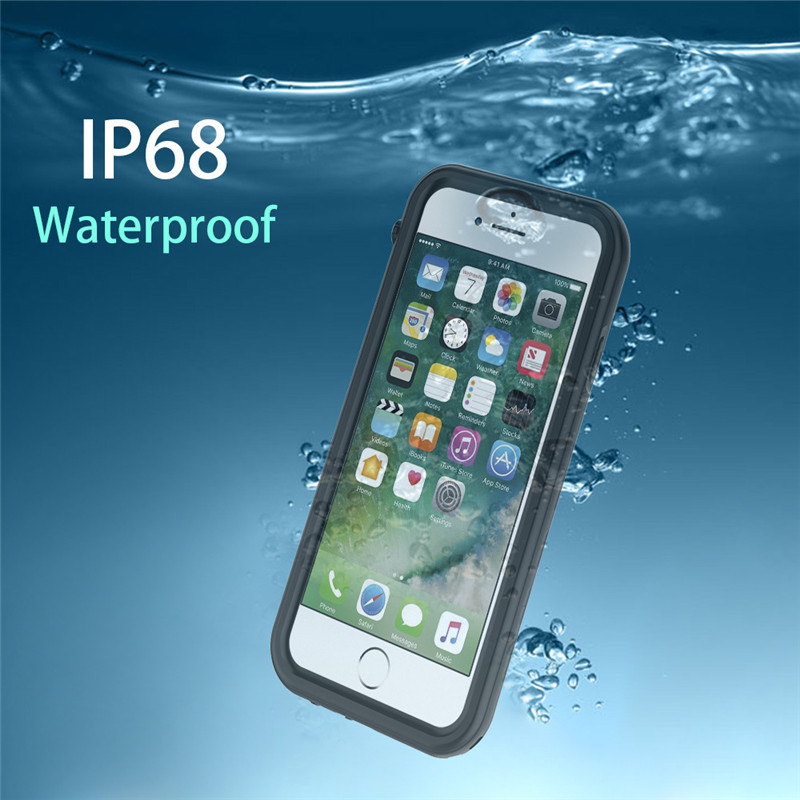 IP68 3m Deep Waterproof Case For IPhone X 6 6s 7 8 Plus Cover Hard Shockproof 360 Full Body Protect Fundas For Diving Swimming