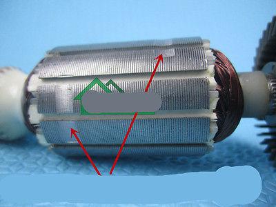 GWS 6-100 AC 220V 6mm Drive Shaft Electric Motor Rotor for Bosch grinder rotor