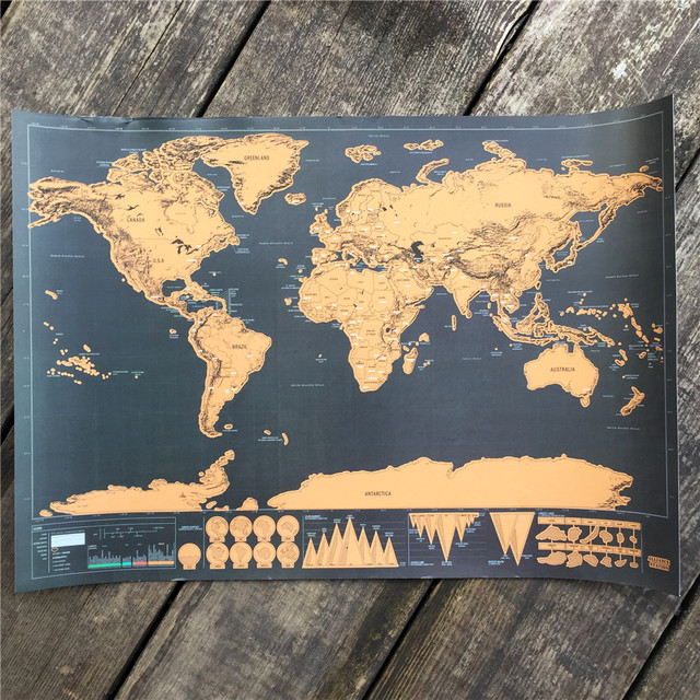Free ship Travel Scratch Off Map Personalized World Map Poster ...