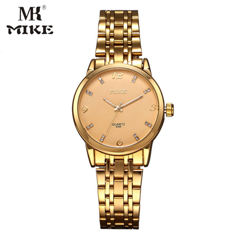 Mike Rose Gold watch woman Lovers watch men watches Water resistant relojes para mujer montre homme marque de luxe heren horloge hot sale the fifth 2017 high quality brand watch men ladies watches gold mesh band wrist watch for women montre homme de marque