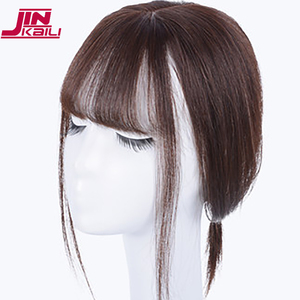 Image 2 - Jinkaili preto marrom resistente ao calor sintético toupees hairpieces reta topo natural grampo de cabelo ins ar franja encerramento masculino