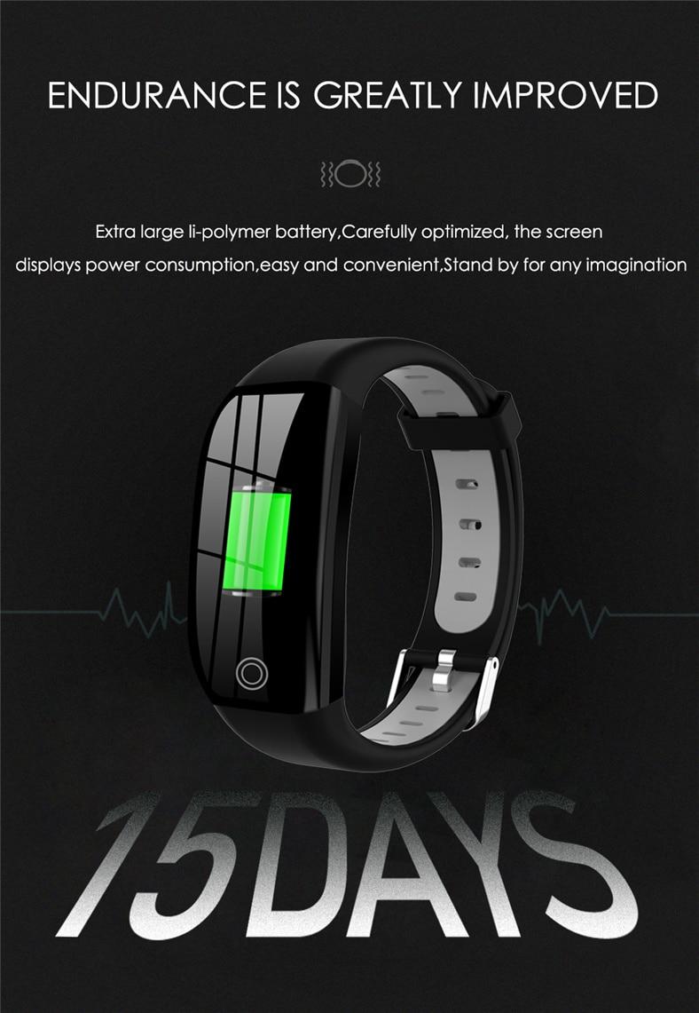 HTB1dgQ6a8OD3KVjSZFFq6An9pXaP F21 Smart Bracelet GPS Distance Fitness Activity Tracker IP68 Waterproof Blood Pressure Watch Sleep Monitor Smart Band Wristband