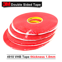 3M brand tape 4910 VHB double sided tape clear transparent acrylic VHB 1mm thickness 3M tape,20MM*33M 5ROLL/Lot