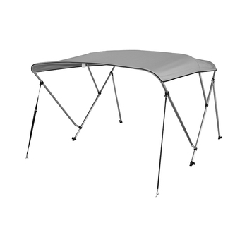 """3 Bow Aluminum 25mm Round Tubes Bimini Top UV Waterproof 600D Boat Cover with Boot and Hardware,6'x54-60""""x36"""",183x137-155x91.5cm"""