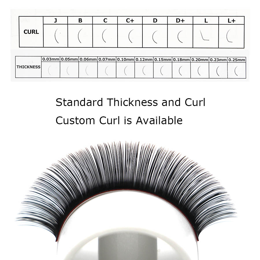 5803bf96a740 Wholesale 1pc Eyelash Extension 0.05 and 0.07 thickness C