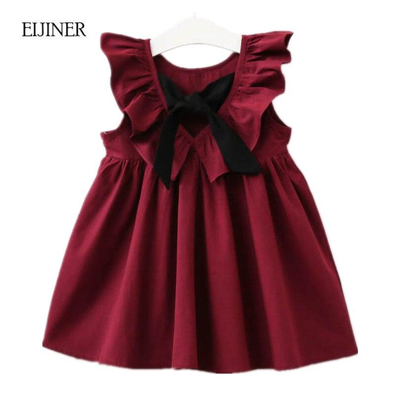 Princess Costume Baby Girls Birthday Dress 2018 Brand Summer Girls Dresses Kids Clothing 100% Cotton Children Dresses