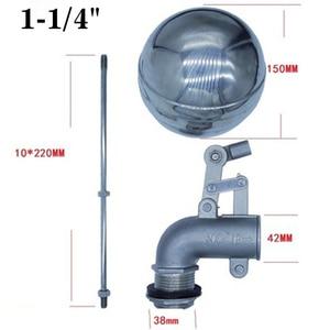 """Image 5 - 1/2 """"3/4"""" 1 """"aço inoxidável 304 ajustável válvula de flutuador tanque água dobrar cotovelo flutuante válvula esfera fluxo cisterna/expansão"""