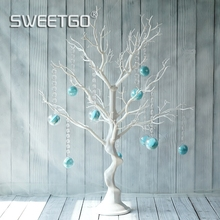 SWEETGO свадебное украшение дерево белая Смола Имитация дерева с макранами подвески для конфет бар/Витрина магазин Дерево желаний