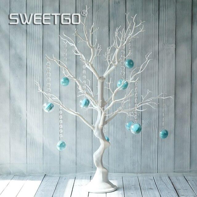 Sweetgo Hochzeit Dekoration Baum Weiss Harz Simulierten Baum Mit