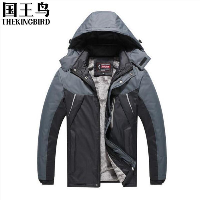 Здесь продается  Winter Men Outdoor jacket  Wind and waterproof Warm fleece Plus velvet Hooded Ski travel impermeable  Men