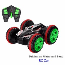 1:18 Rc Stunt amphibious Car Off road Buggy 2.4G 4wd Rc Drift Car Can Drive On Water Electric Remote Control Toy Model For Kids