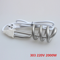 Hot Sale 303 Electric Heat Tube With Automatic Cutout Thermostat Immersion Electric Heater With Automatic Power