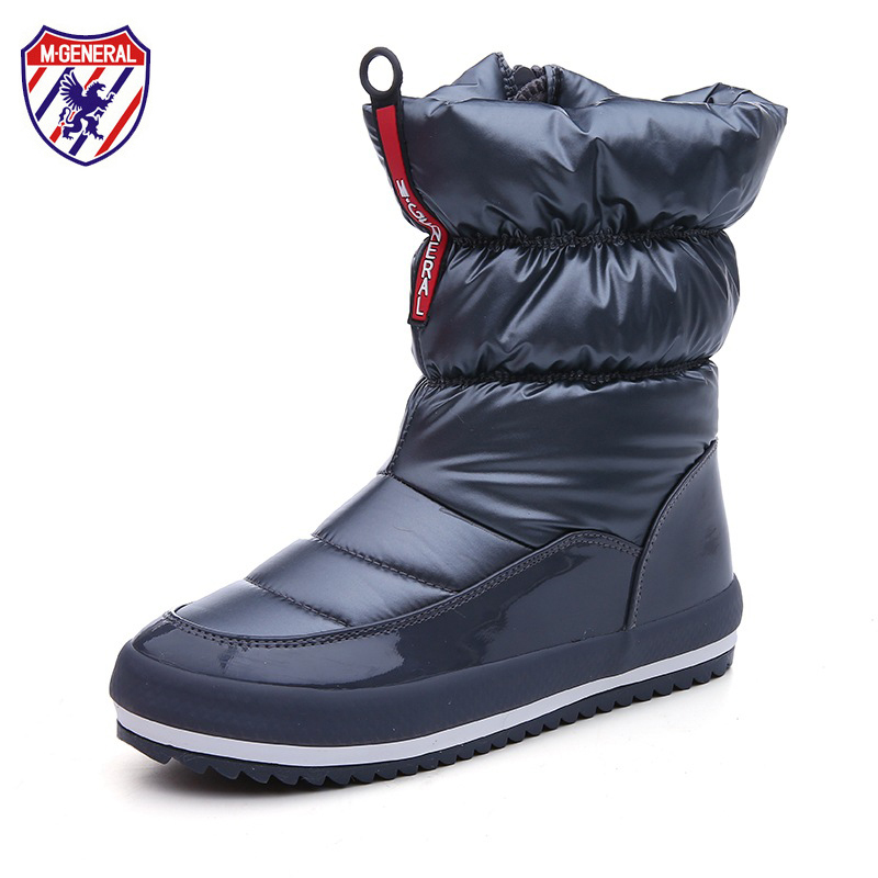 M.GENERAL Women Snow Boots Female Winter Boots 2017 New Fashion Trends Waterproof Cloth All-match High Boots Solid Colors 35-40 the explosion of the classic all match solid colored body hip high elastic denim pants feet female winter bag mail