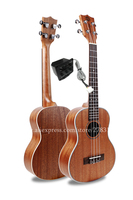 Finlay 27 Electric Tenor Ukulele Instrument With Full Mahogany Top/Body, 26 ukelele with pickup tuner